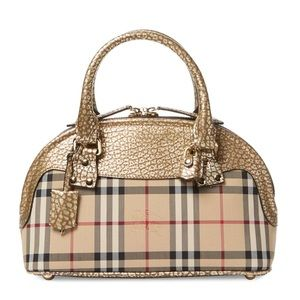763af38b8fcf Burberry Bags - Burberry Small Bloomsbury Horseferry Check Leather